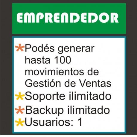 """Plan EMPRENDEDOR - Sistema de ventas on-line: """"Mi Negocio Sistema Control©"""""""